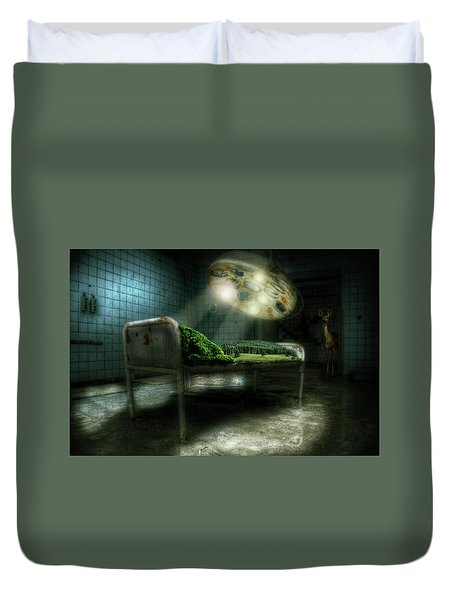 Duvet Cover featuring the digital art Emergency Nature  by Nathan Wright