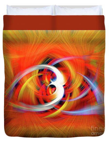 Emerging Light From A Colorful Vortex Duvet Cover by Sue Melvin