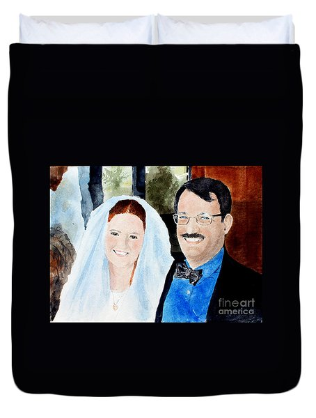 Emily And Jason Duvet Cover