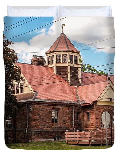 Emily Williston Memorial Library And Museum Duvet Cover