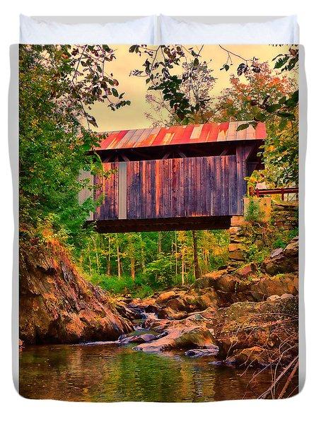 Emily's Covered Bridge Duvet Cover by Jeff Folger