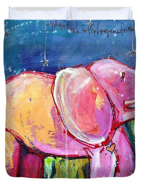 Emily's Elephant 2 Duvet Cover