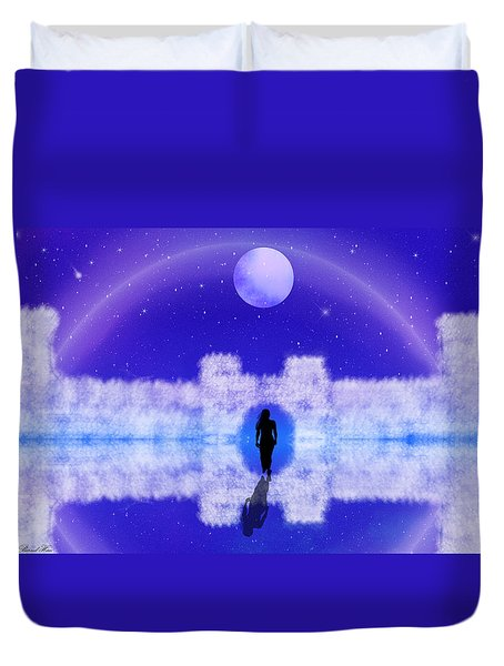 Duvet Cover featuring the digital art Emily's Journey Part II by Bernd Hau