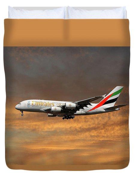 Emirates Airbus A380-861 3 Duvet Cover
