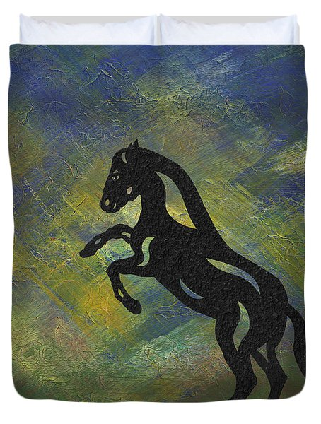 Emma - Abstract Horse Duvet Cover