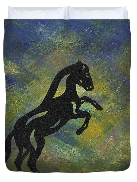 Emma II - Abstract Horse Duvet Cover