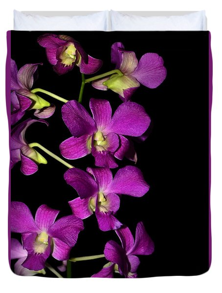 Duvet Cover featuring the photograph Emma Queen Orchid 001 by George Bostian
