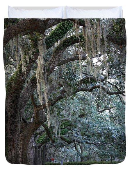 Emmet Park In Savannah Duvet Cover