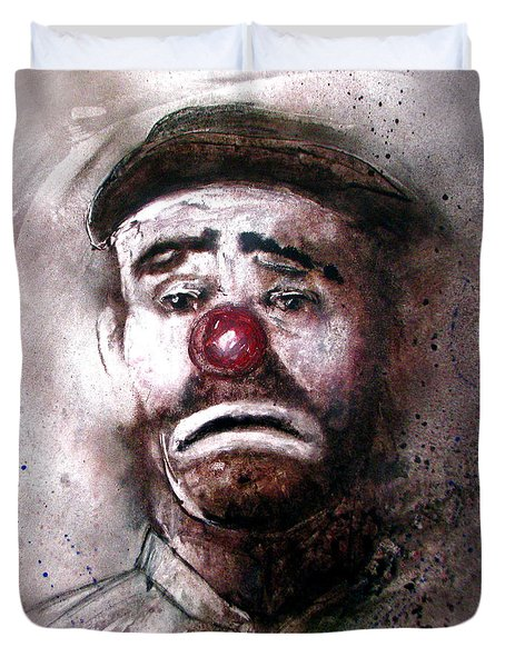 Emmit Kelly Clown Duvet Cover