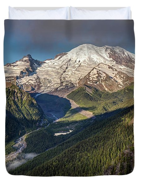 Duvet Cover featuring the photograph Emmons Vista Of Mount Rainier by Pierre Leclerc Photography