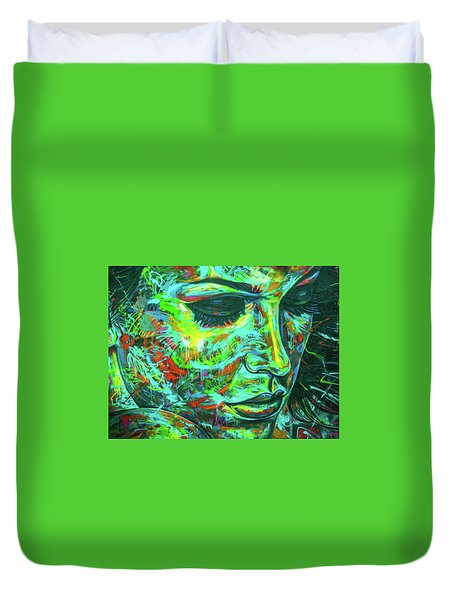 Emotion Green Duvet Cover