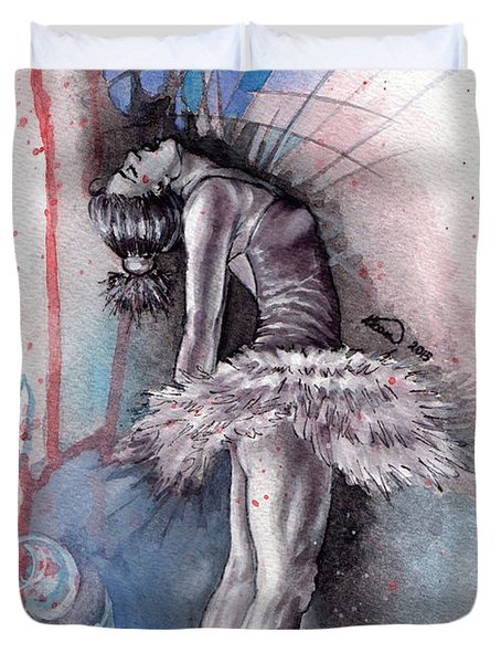 Emotional Ballet Dance Duvet Cover