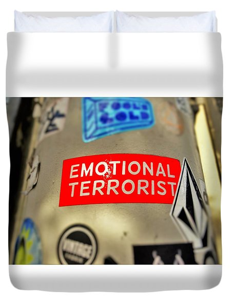 Emotional Terrorist In New York  Duvet Cover