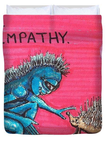 Empathetic Alien Duvet Cover