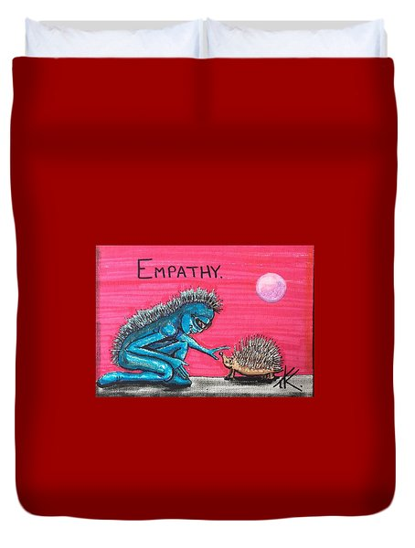 Empathetic Alien Duvet Cover