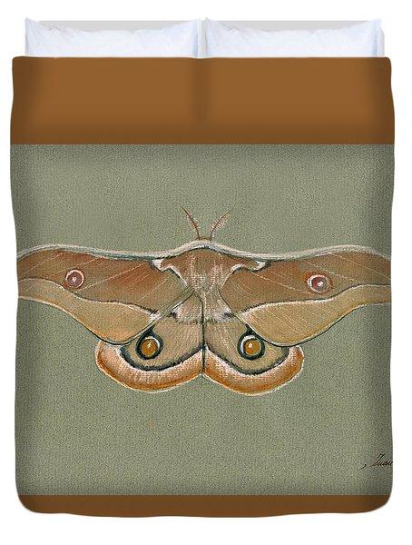 Emperor Gum Moth Duvet Cover