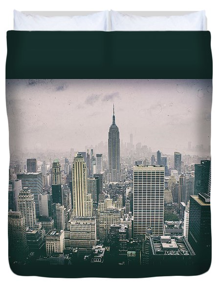Empire State Nyc Duvet Cover