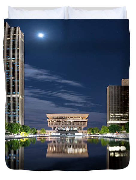 Empire State Plaza Duvet Cover