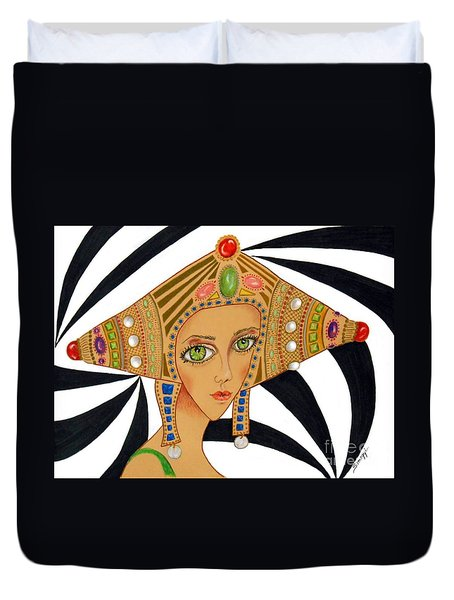 Empress Exotica -- Whimsical Exotic Woman Duvet Cover