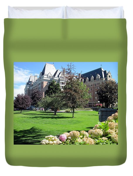 Empress Hotel Duvet Cover