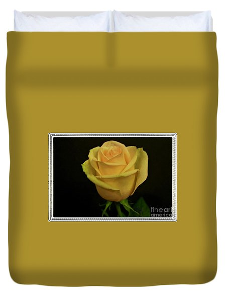Duvet Cover featuring the photograph Empress Rose by Marsha Heiken