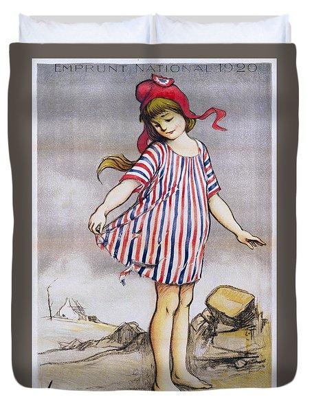 Emprunt National Propaganda Poster, 1920 Duvet Cover
