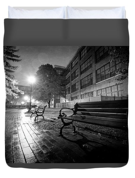 Duvet Cover featuring the photograph Emptiness by Everet Regal