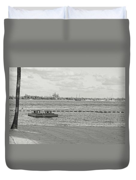Empty Beach Duvet Cover