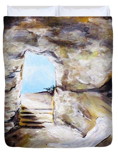 Empty Burial Tomb Duvet Cover