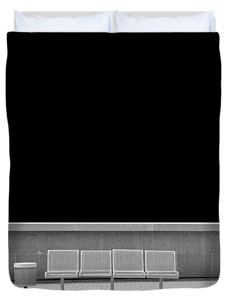 Empty Chairs, Ottawa Duvet Cover by Brooke T Ryan