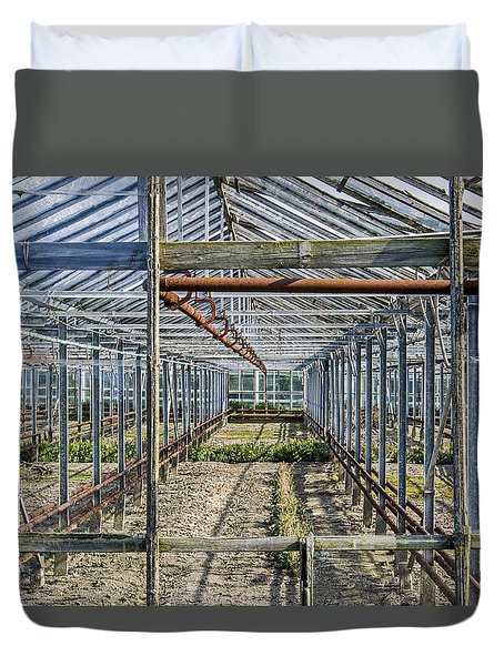 Empty Greenhouse Duvet Cover