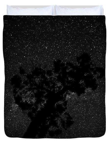 Empty Night Tree Duvet Cover