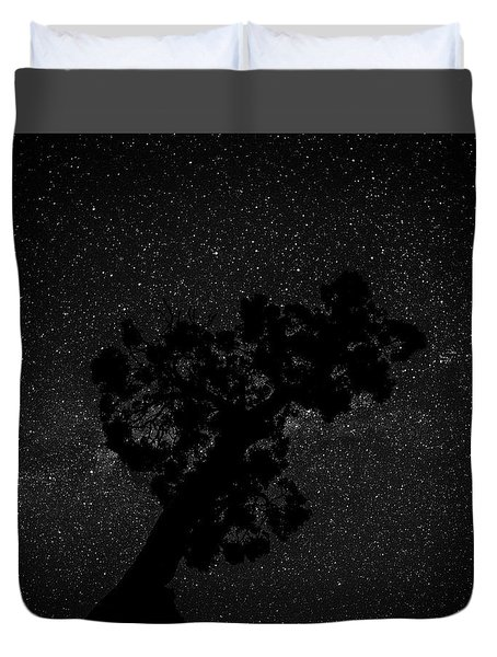 Duvet Cover featuring the photograph Empty Night Tree by T Brian Jones