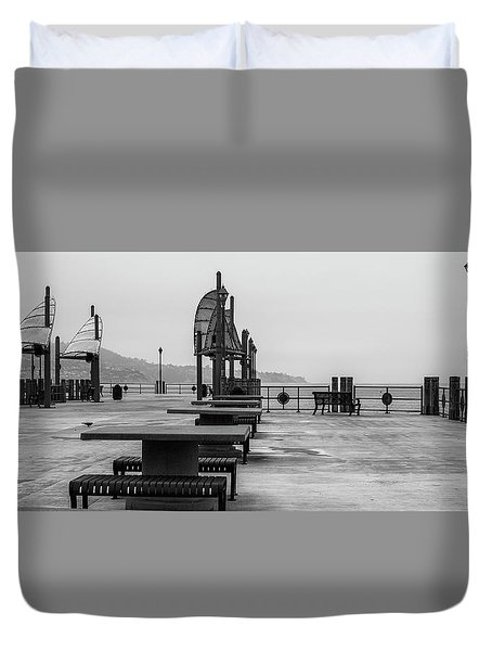 Empty Pier Duvet Cover