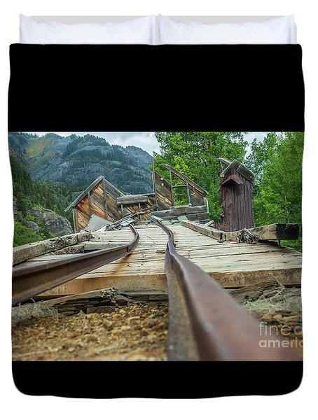 Empty Tracks Duvet Cover