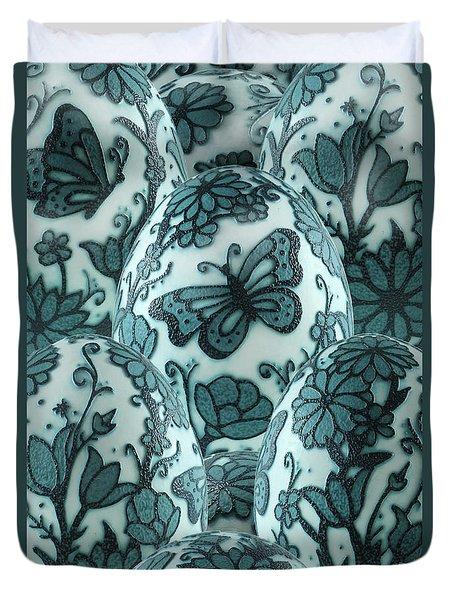 Emu Butterfly Garden Duvet Cover