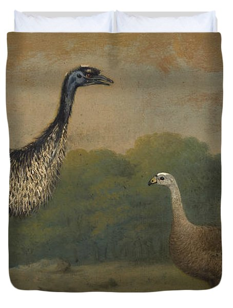 Emu, Cape Barren Goose And Magpie Goose Duvet Cover