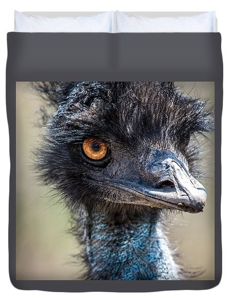 Emu Eyes Duvet Cover by Paul Freidlund