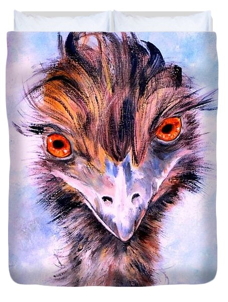 Emu Eyes Duvet Cover