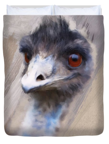 Emu Duvet Cover by Gillian Dernie