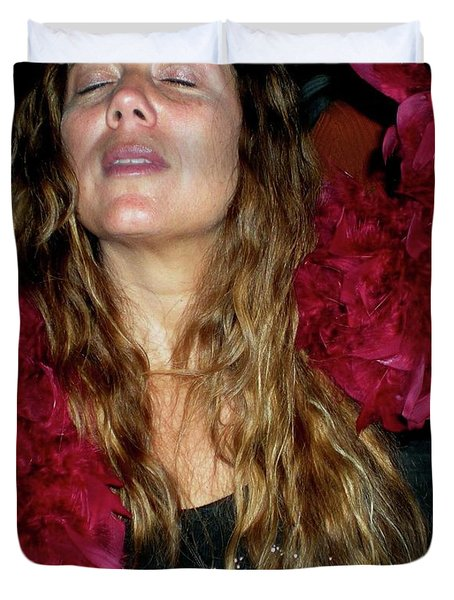 Emulating Janis Duvet Cover by Angela Murray