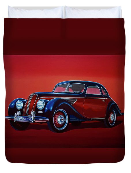 Emw Bmw 1951 Painting Duvet Cover by Paul Meijering