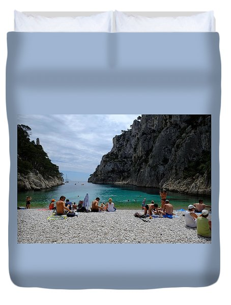 En Vau Calanques-beach Duvet Cover