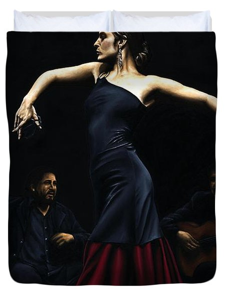 Encantado Por Flamenco Duvet Cover by Richard Young