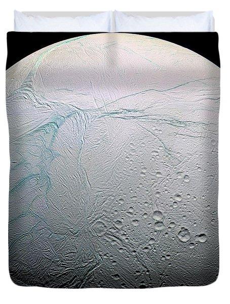 Duvet Cover featuring the photograph Enceladus Hd by Adam Romanowicz