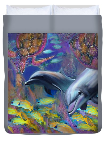 Enchanted Dolphins Duvet Cover
