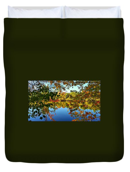 Duvet Cover featuring the photograph Enchanted Fall by Valentino Visentini