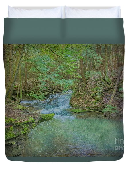 Duvet Cover featuring the digital art Enchanted Forest One by Randy Steele