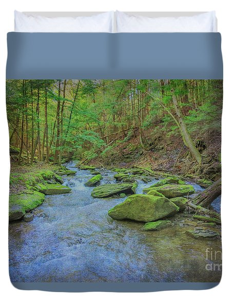Duvet Cover featuring the digital art Enchanted Forest Three by Randy Steele