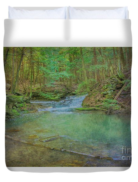 Duvet Cover featuring the digital art Enchanted Forest Two by Randy Steele